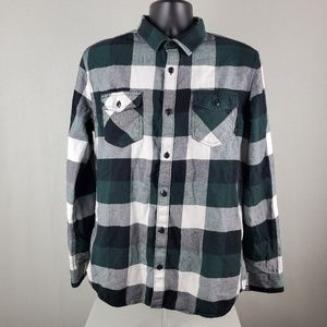 Vans Plaid Long Sleeve Button Up Top LG Tailored